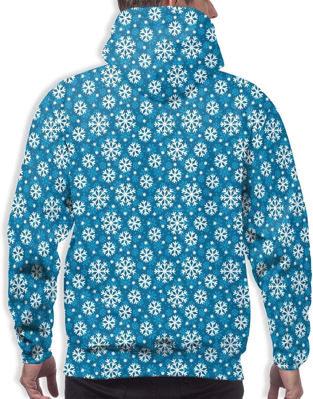 Men's Hoodies Sweatshirts,Christmas Tree and Scandinavian Gnomes Climbing Winter Scenery