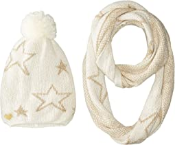 Betsey Johnson - Star Struck Two-Piece Set Infinity Beanie