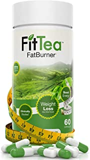 Fit Tea FatBurner with Green Tea, EGCG, and Caffeine for Natural Energy Boost or Pre Workout