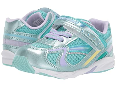 Tsukihoshi Kids B. Glitz (Toddler) (Mint/Lavender) Girls Shoes