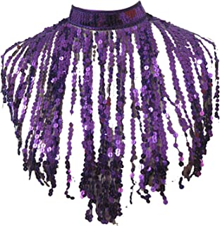 whitewed Fringe Flapper Costume Neck Piece