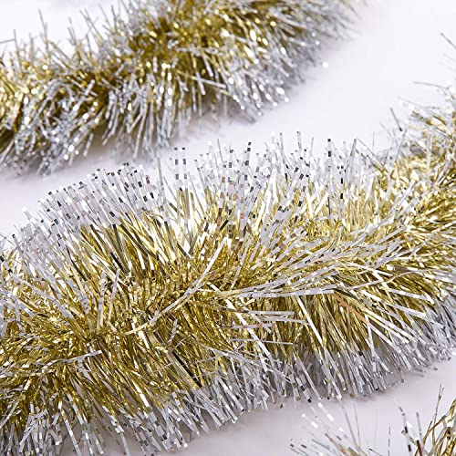 iPEGTOP 3 Pcs x 6.6ft Christmas Snowy Tinsel Garland, Classic Thick Shiny  Sparkly Party - Tinsel Christmas Decorations: Amazon.com