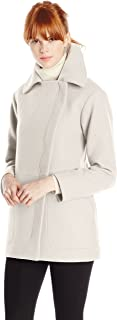 Women's Alessandra Wool-Blend Coat with Asymmetrical Zip