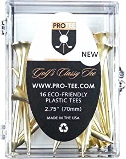 PROTEE Golf Tees (16-Pack), Gold Satin