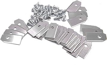 Variatie vhbw 30x 0,75 mm vervangingsmes voor grasmaaier robot Gardena robotmaaier R38Li, R40Li, R45Li, R50Li, R70Li, R75L...