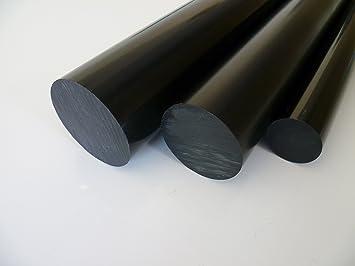 2 mtr. Stab geteilt 2 St/ück /à 995 mm B/&T Metall PVC schwarz Rundstab /Ø 12 mm Au/ßendurchmesser mit Plustoleranz