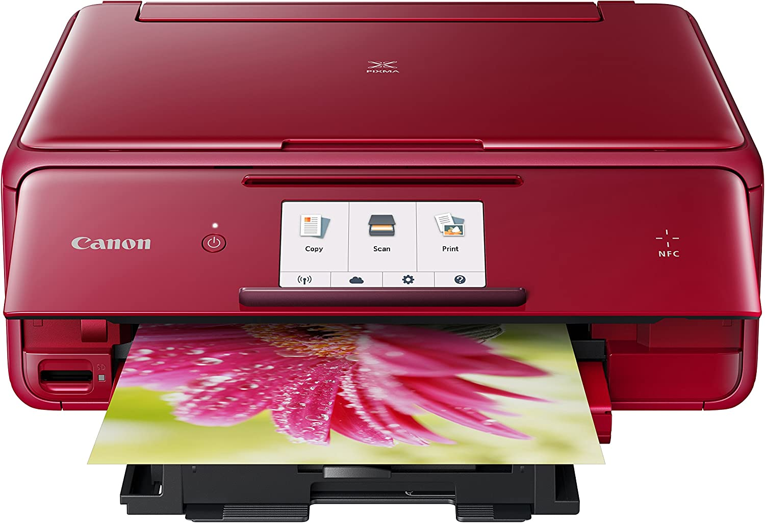 Canon USA 1369C042 Wireless Color Photo Printer with Scanner & Copier 4.3 Red