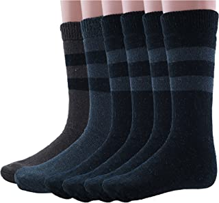 Mens Womens Rabbit Wool Thermal Socks Ultra Warm Thick Boot Socks 6-pack By DEBRA WEITZNER
