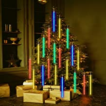 Meteorenregen Regenlichten, 30cm 8 buizen Lichtslingers Lichtgevende kettingen voor Kerstmis Halloween Garden Tree Home De...