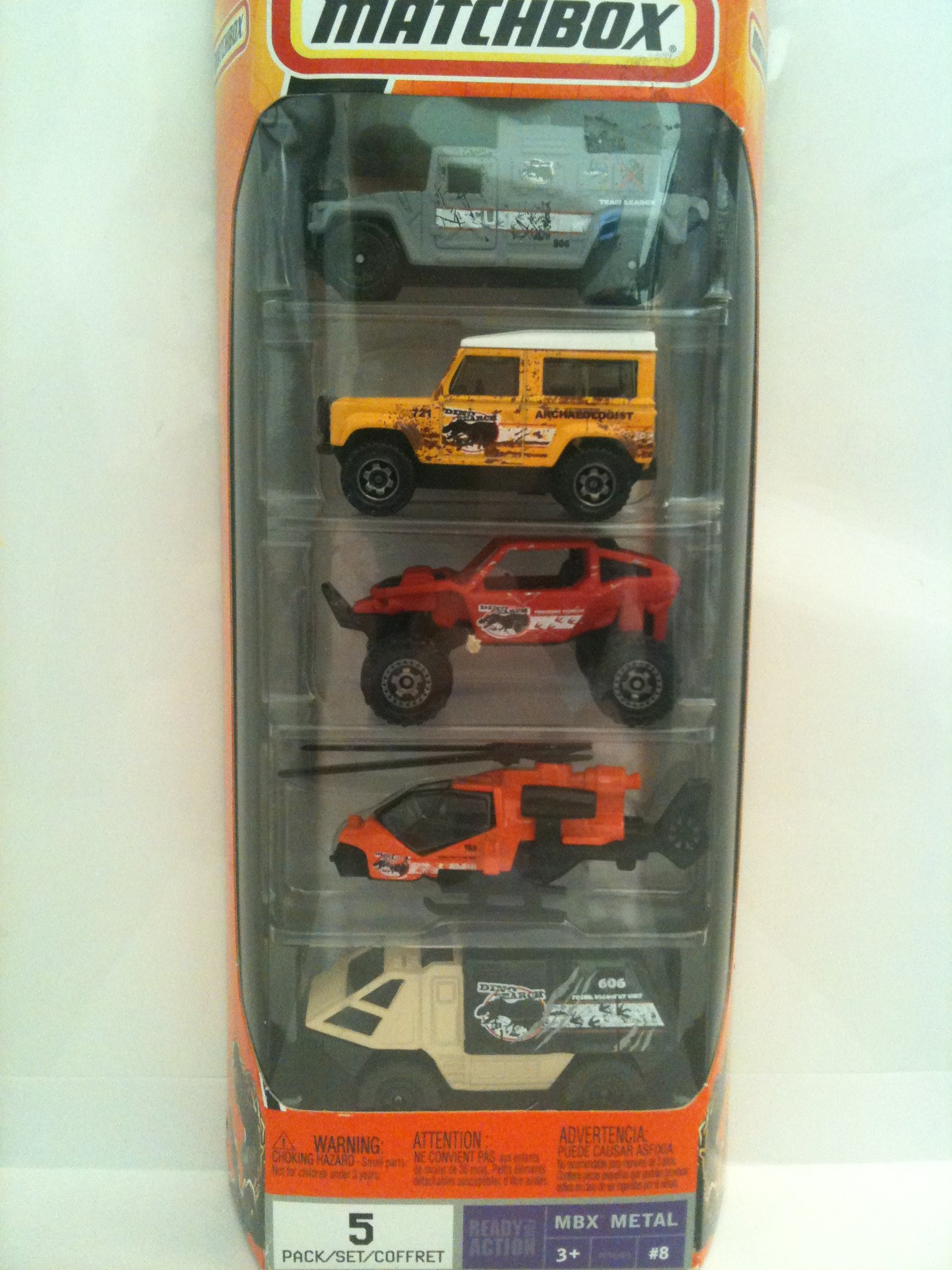 Mattel Matchbox Dino Adventure Vehicles 5-Pack #8 by Matchbox: Amazon.es: Juguetes y juegos