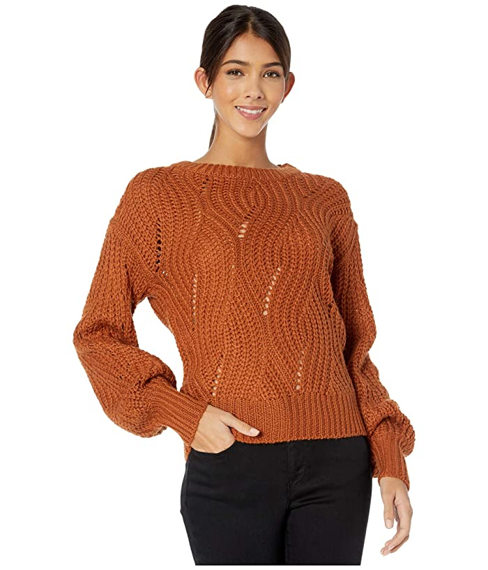 ASTR the Label  Dora Sweater (Dark Apricot) Womens Clothing