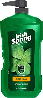 Irish Spring Men's Body Wash Pump, Original - 32 Fluid Ounce