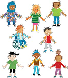 All Are Welcome Diverse Students Cutouts—Multicultural Children, Celebrating Diversity Bulletin Board Decorations, Classroom or Homeschool Décor (36 pc)