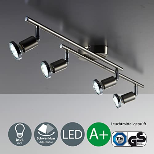 9056e3cc60a LED ceiling lamp for living room and bedroom I rotatable and pivotable  lights and arms I