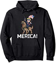 Trump Merica Belgian Malinois Dog American Hero 4th Of July Pullover Hoodie