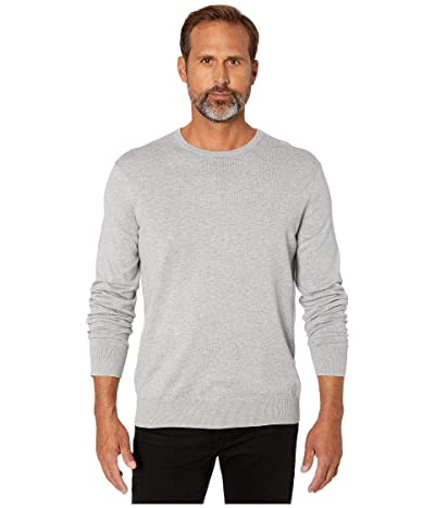 Calvin Klein Long Sleeve Crew Neck Cotton Silk (Heroic Grey Heather) Men