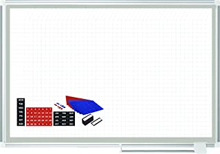 MasterVision Planning Board Magnetic Dry Erase Grid with Accessory Kit, 36