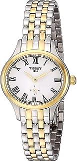 Tissot womens Bella Ora Stainless Steel Dress Watch Grey & Yellow Gold T1031102203300