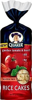 Quaker Rice Cakes, Garden Tomato and Basil, Gluten Free, 6.1oz