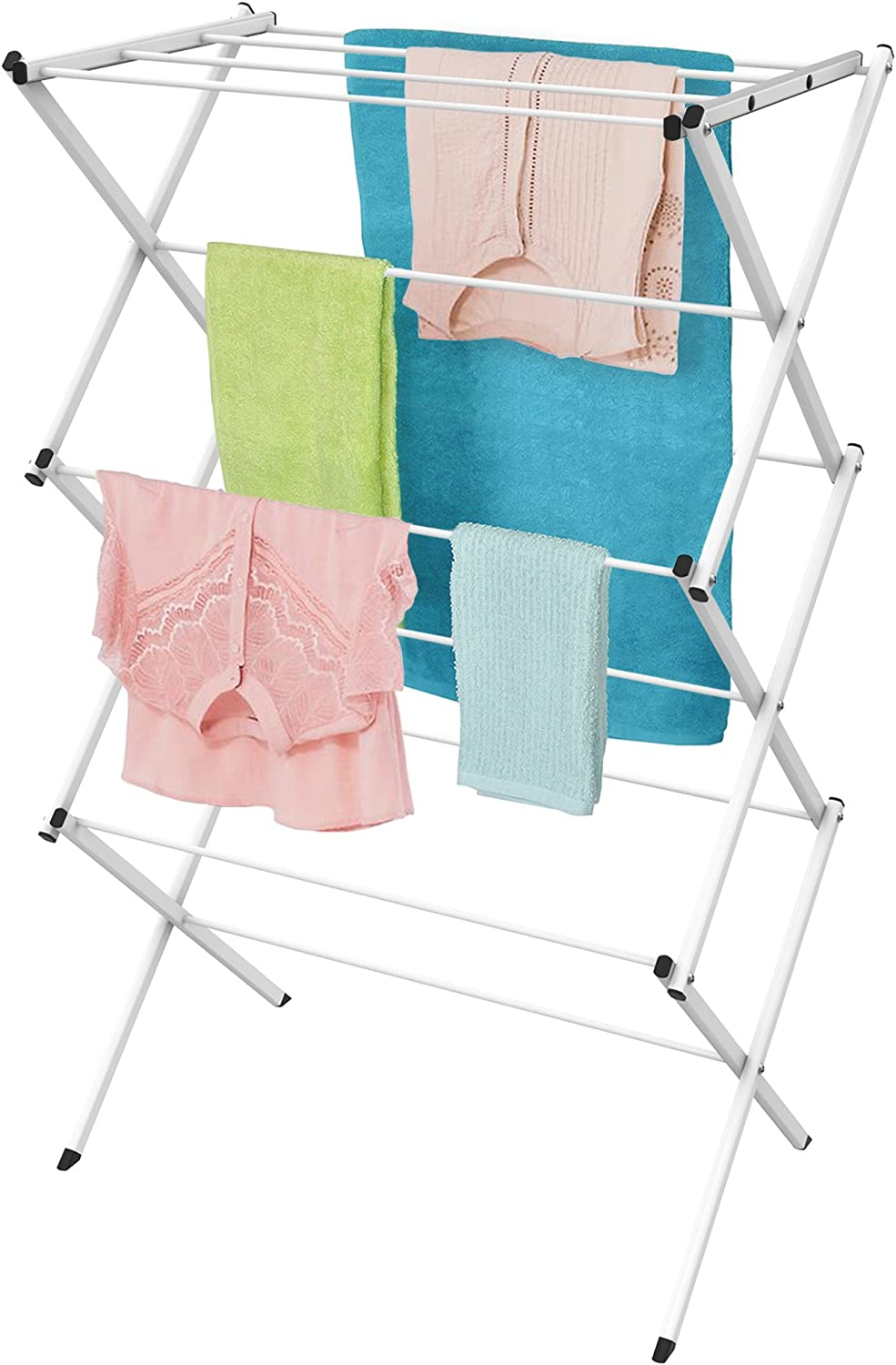 Lavish Home Max 78% OFF Clothes Rack-24ft for Compact Max 84% OFF and Space-Collapsible