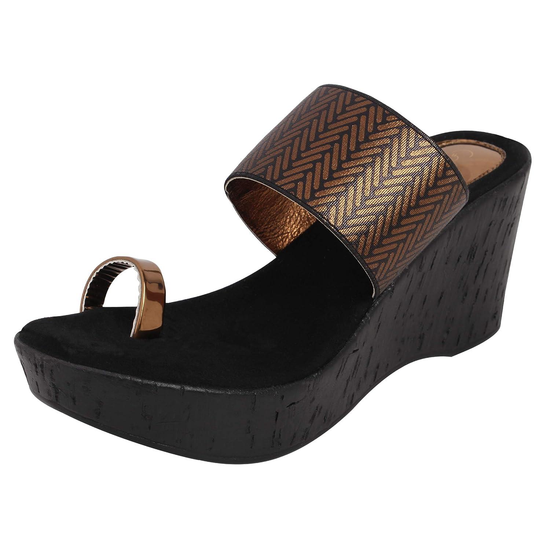 Buy Catwalk Bronze Wedges Sandals for