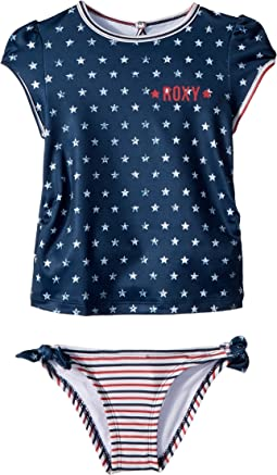 Gipsy Roxy Short Sleeve Lycra Set (Toddler/Little Kids)
