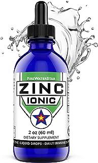 Zinc Liquid Drops - Ionic Zinc Sulfate - 2oz - 30 Servings - 1 Month Supply - Organic - Non-GMO - Vegan - Natural Immune S...