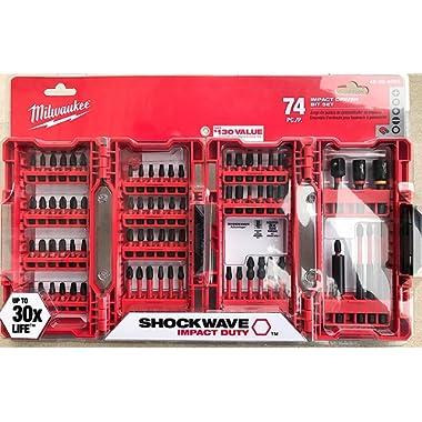 Milwaukee Shockwave Impact Driver Bit Set (74 Piece) 48-32-4062