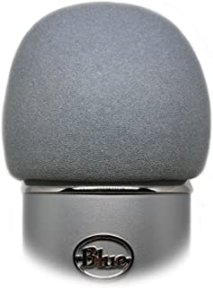 Professional Foam Windscreen for Blue Yeti - Covers Other Large Microphones, such as MXL, Audio Technica and Many More - Quality Sponge Material Makes This The Perfect Pop Filter for your Mic (Silver)