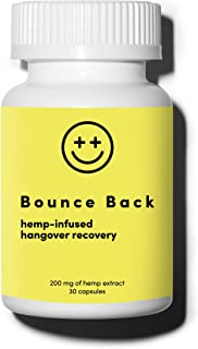 Bounce Back Hangover Recovery and Prevention Pills (30 Capsules) - Morning After Alcohol Relief Aid with Dihydromyricetin ...