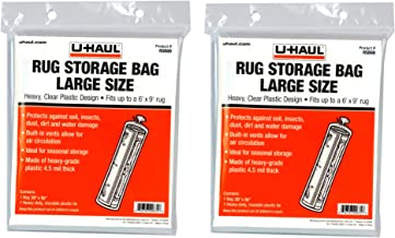 UHaul Rug Storage Bag Large Size Fits Up to 6' x 9' Rugs Moving & Storage 2 Pack