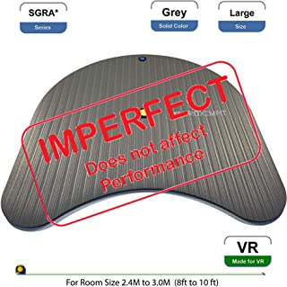 *IMPERFECT* ProxiMat | SGRA* | Grey | Large | Virtual Reality Gamers Advantage Chaperone Safety Mat Large Standing 8' to 10' Room Scale for HTC Vive, Oculus Rift Playstation VR PSVR TPCast DisplayLink