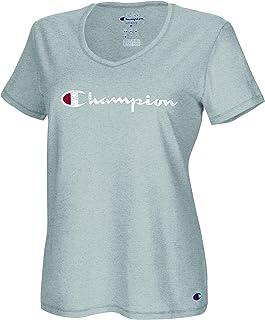 Champion Women's Plus Size Vapor Cotton V-Neck Tee