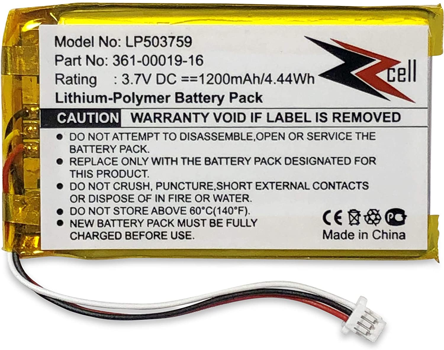 ZZcell In a popularity Battery National products for Garmin 361-00019-12 361-00019-16 Nuv