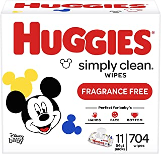 Huggies Simply Clean Toallitas para bebé sin perfume, 10036000487517, Blanco, 1