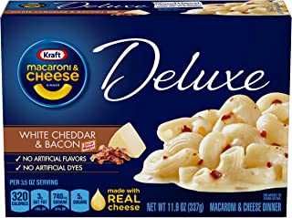 Kraft Deluxe White Cheddar Bacon Macaroni & Cheese Dinner (11.9 oz Box)