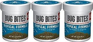 (3 Pack) Fluval Bug Bites Tropical Formula for Medium to Large Fish
