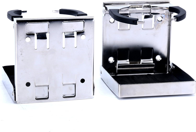 Amarine sealux Stainless 100% quality warranty! Steel Adjustable Drink Folding Holder C Portland Mall