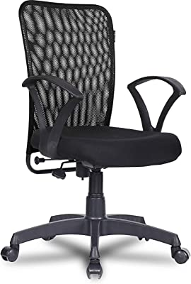 Green Soul® Seoul Mid Back Office/Study Chair with 4 Color Options and Breathable Mesh (Smart Black)