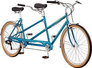 Schwinn Twinn Classic Tandem Adult Beach Cruiser Bike, Double Seater, Steel Low Step Frame, 7-Speed, Medium or Large Frame...