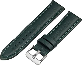 Hadley-Roma MS2044RA 180 18mm Leather Calfskin Black Watch Strap