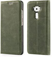 Asus ZenFone 3 ZE552KL Case,Mulbess PU Leather Wallet Case with Kick Stand for Asus ZenFone 3 [5.5 inch],Green