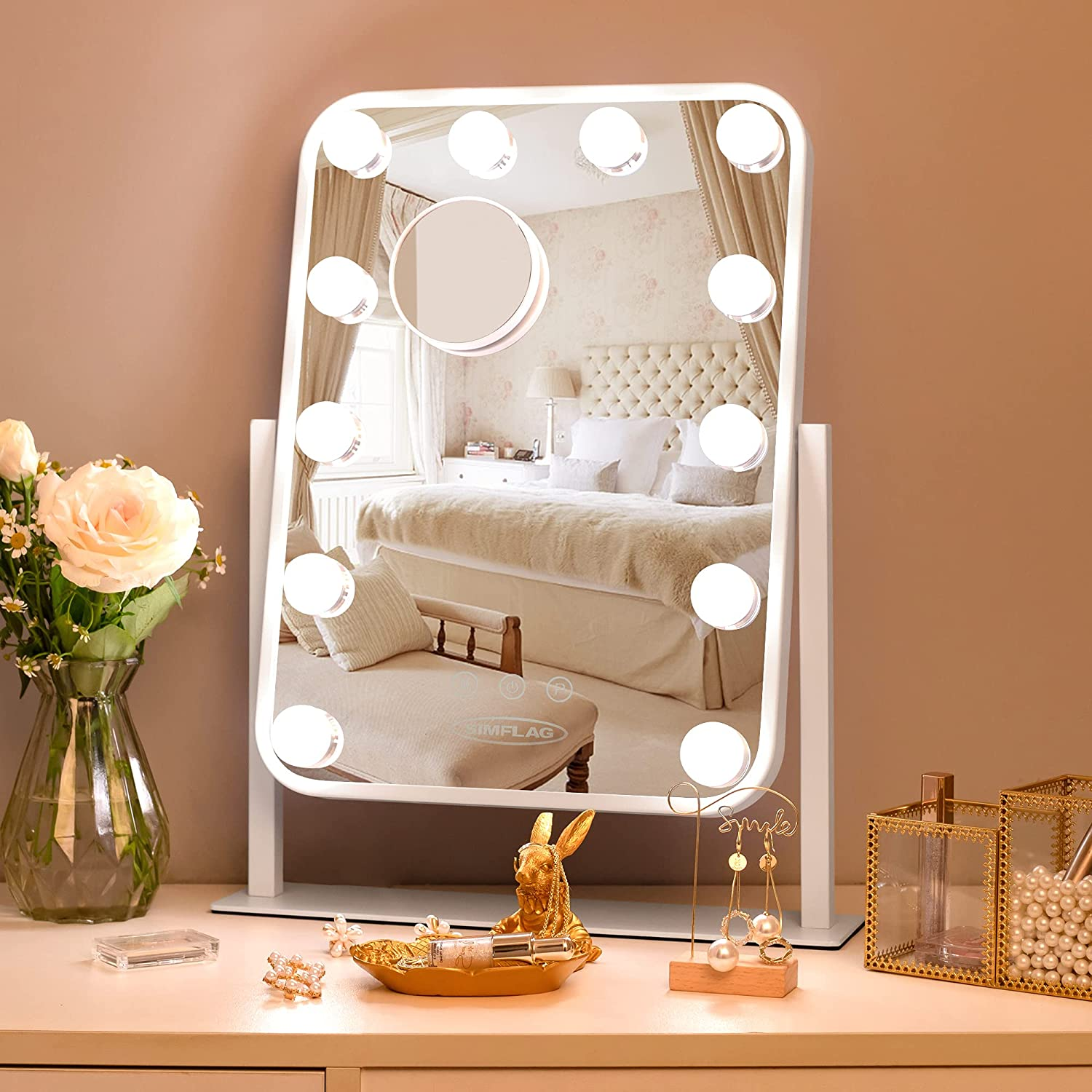 Atlanta Mall SIMFLAG Vanity Mirror with Lights Mirro Lighted Recommended Makeup Hollywood