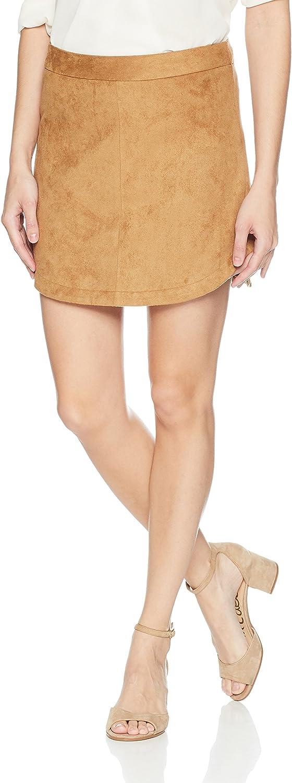 BB Dakota Womens Annette Faux Suede Skirt Skirt