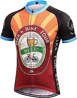 MR Strgao Men`s Cycling Jersey Bike Short Sleeve Shirt