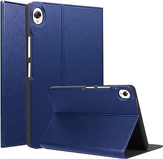 【タッチペンと液晶フィルムおまけ】Pysea Huawei Mediapad M6 8.4ケース オートスリープ機能 上質PUと柔軟TPU ハニカム設計 放熱性全面保護 スマートカバー 超軽量 ファーウェイM6 8.4インチタブレットPCカバー スタンド機能付き 携帯便利(ネイビー)