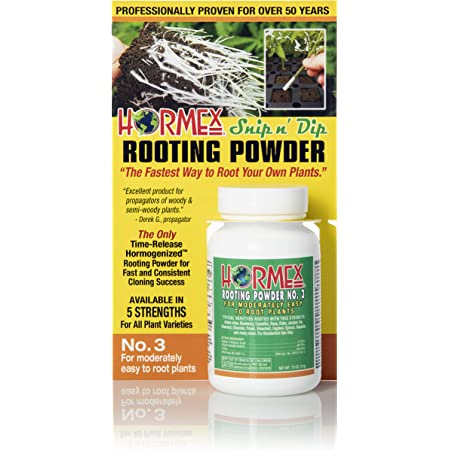 Hormex Rooting Hormone Powder #3 | for Moderately Easy to Root Plants | IBA Rooting Powder Compound for Strong & Healthy Roots
