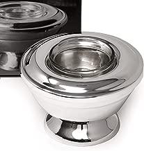 Glass and Metal Caviar Server Set - 2 pack - Single Serving Premium Roe Chiller