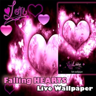 Live Wallpaper - I Love You Falling Hearts Valentine's Day