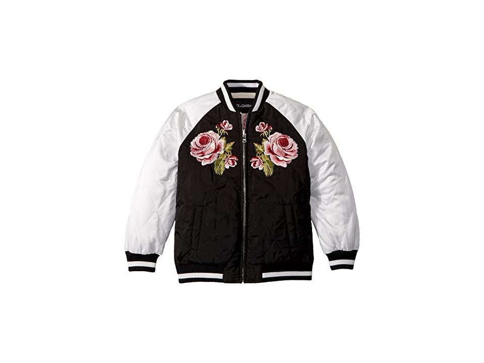 Dolce & Gabbana Kids Down Jacket -Short (Little Kids) (Black) Girl